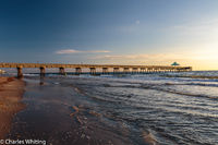 Fishing Pier, Deerfield Beach Florida, Ocean, Light