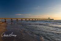 Fishing Pier, Deerfield Beach Florida, Ocean, Light