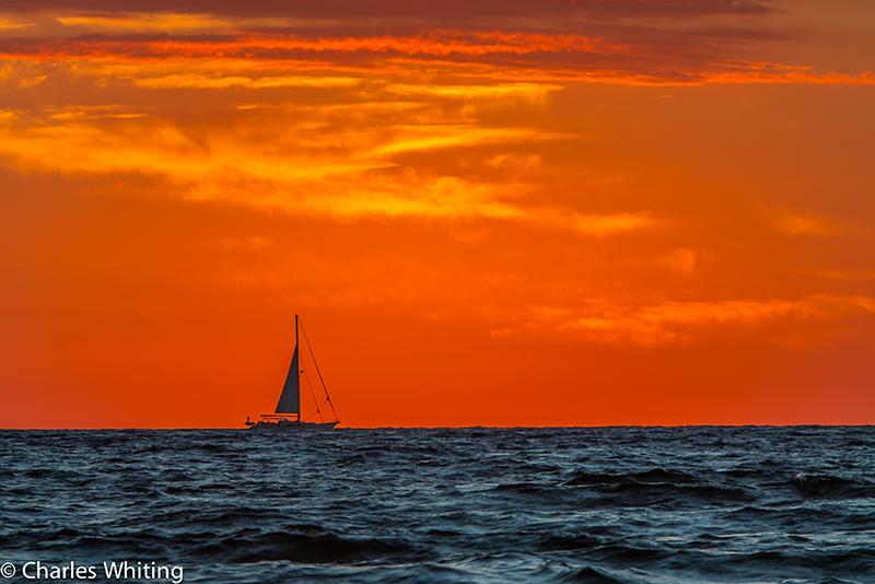 Sailboat, Sunrise, Deerfield Beach, Florida, photo
