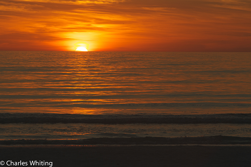 Sunset, Gulf of Mexico, Siesta Key Beach, Sarasota, Florida, photo