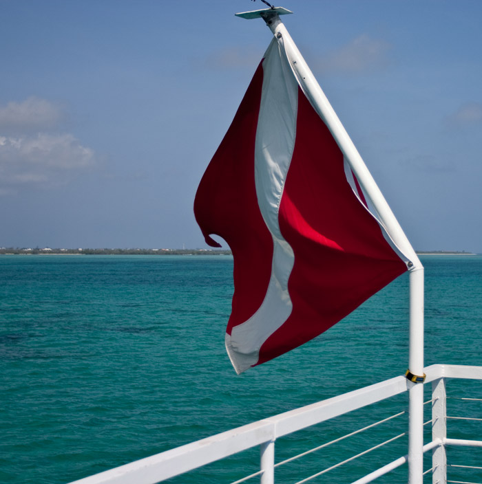 Diver down flag, West End, Grand Cayman Island