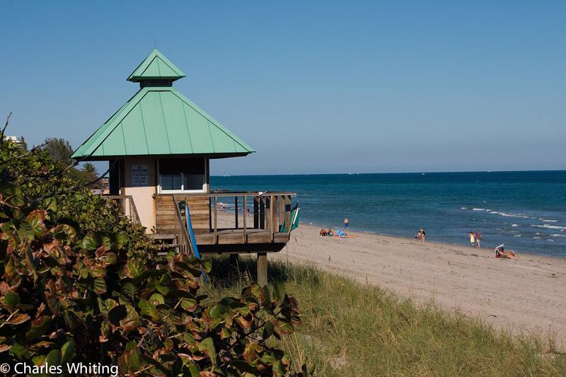 lifeguard shack, Spanish River beach, Boca Raton, Florida, photo