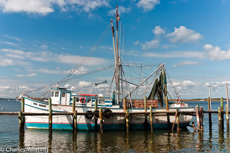 Miss Sandra, Amelia Island, nets, lobster traps, fishing boat, photo