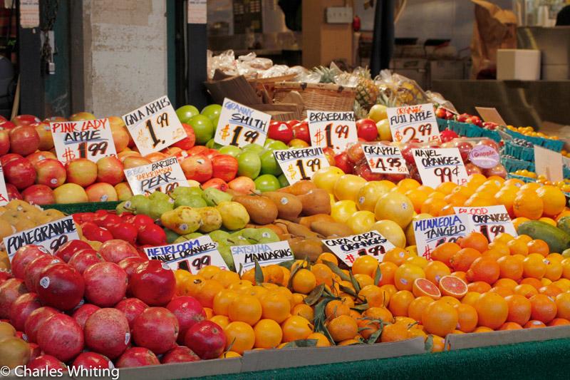 fruit stand, Pile Place Market, Seattle, Washington, colorful, photo