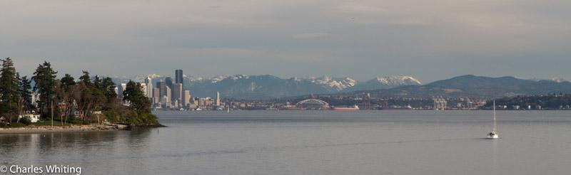 Seattle, Washington, Bainbridge Island, skyline, harbor, photo