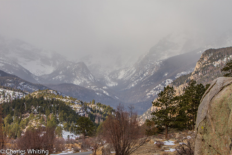 Winter storm, clouds, Odessa Gorge, Rocky Mountain National Park,, photo