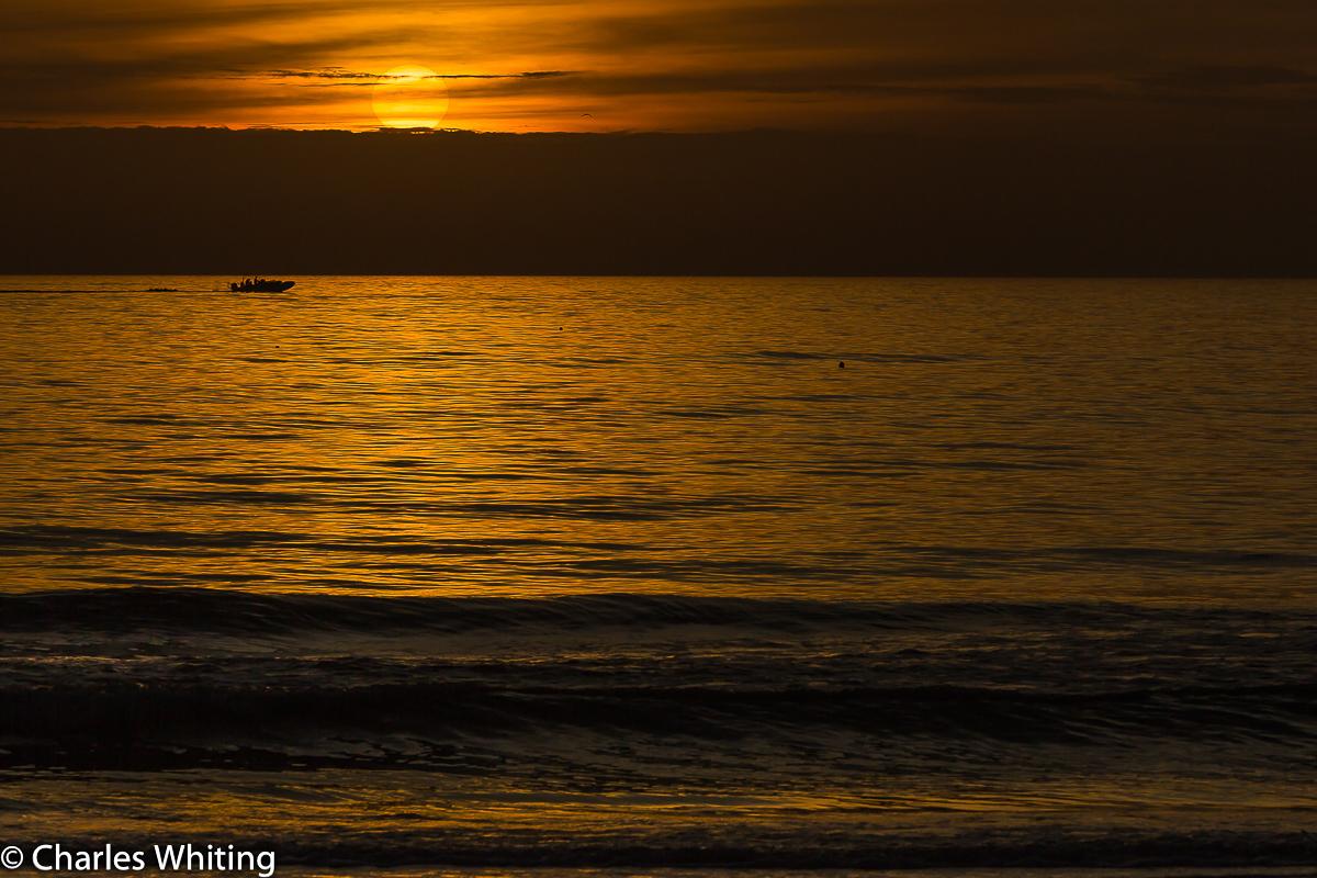 Sunset, Silhouette, boat, Siesta Key, Sarasota, Florida, photo