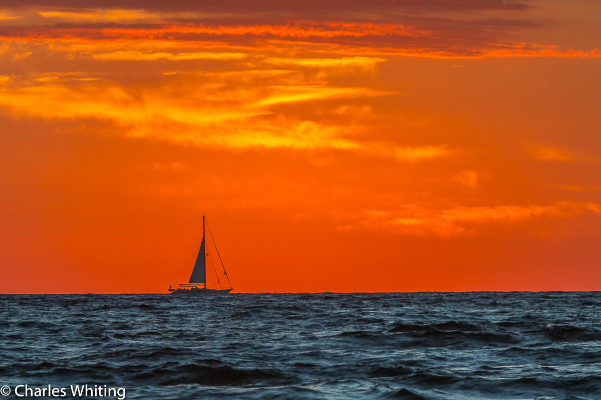 Sailboat, Sunrise, Deerfield Beach, Florida