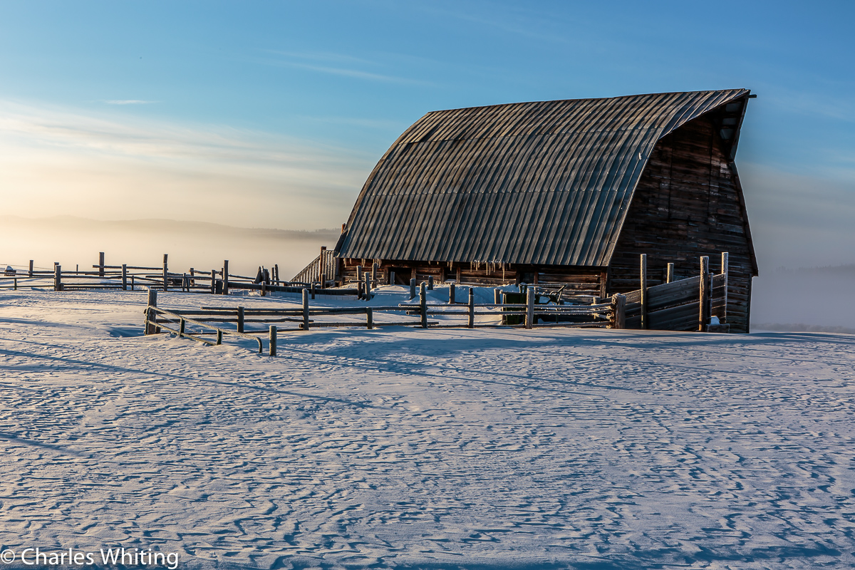 Barn, Frost, Fog, Snow, Steamboat Springs, Colorado, photo