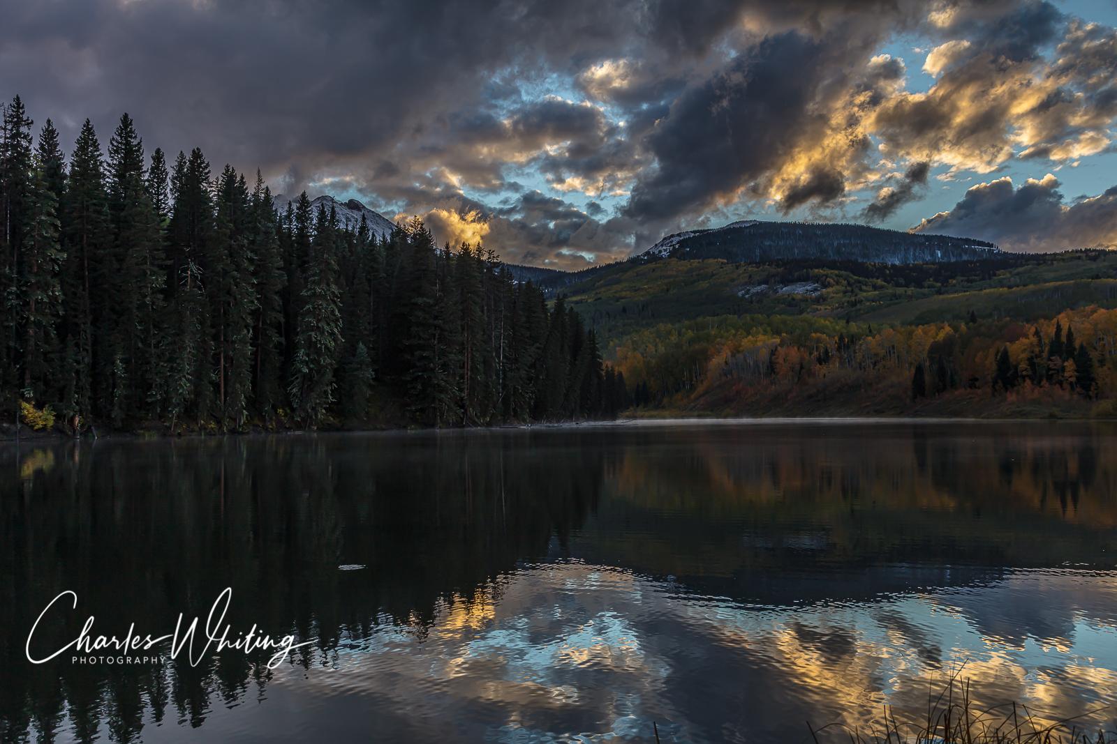 SUnset, Woods Lake, Telluride, Colorado, photo