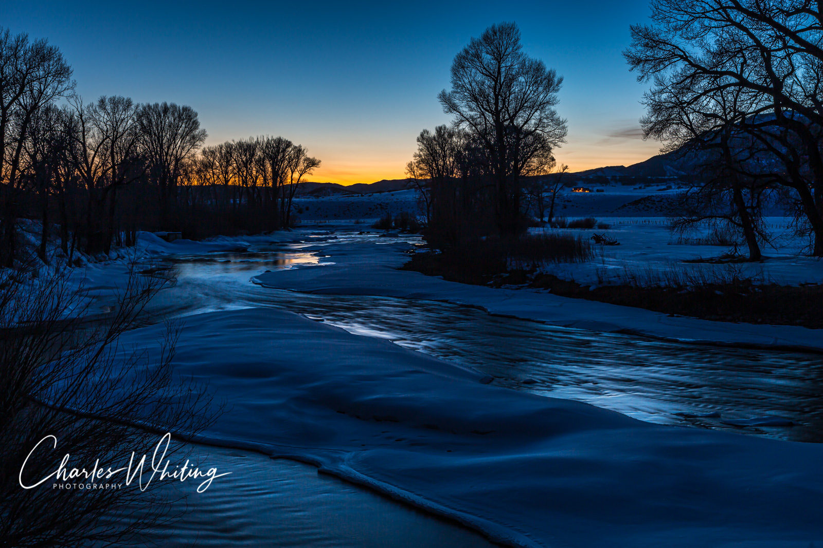 Elk Creek, Steamboat Springs, Colorado, Twilight, photo
