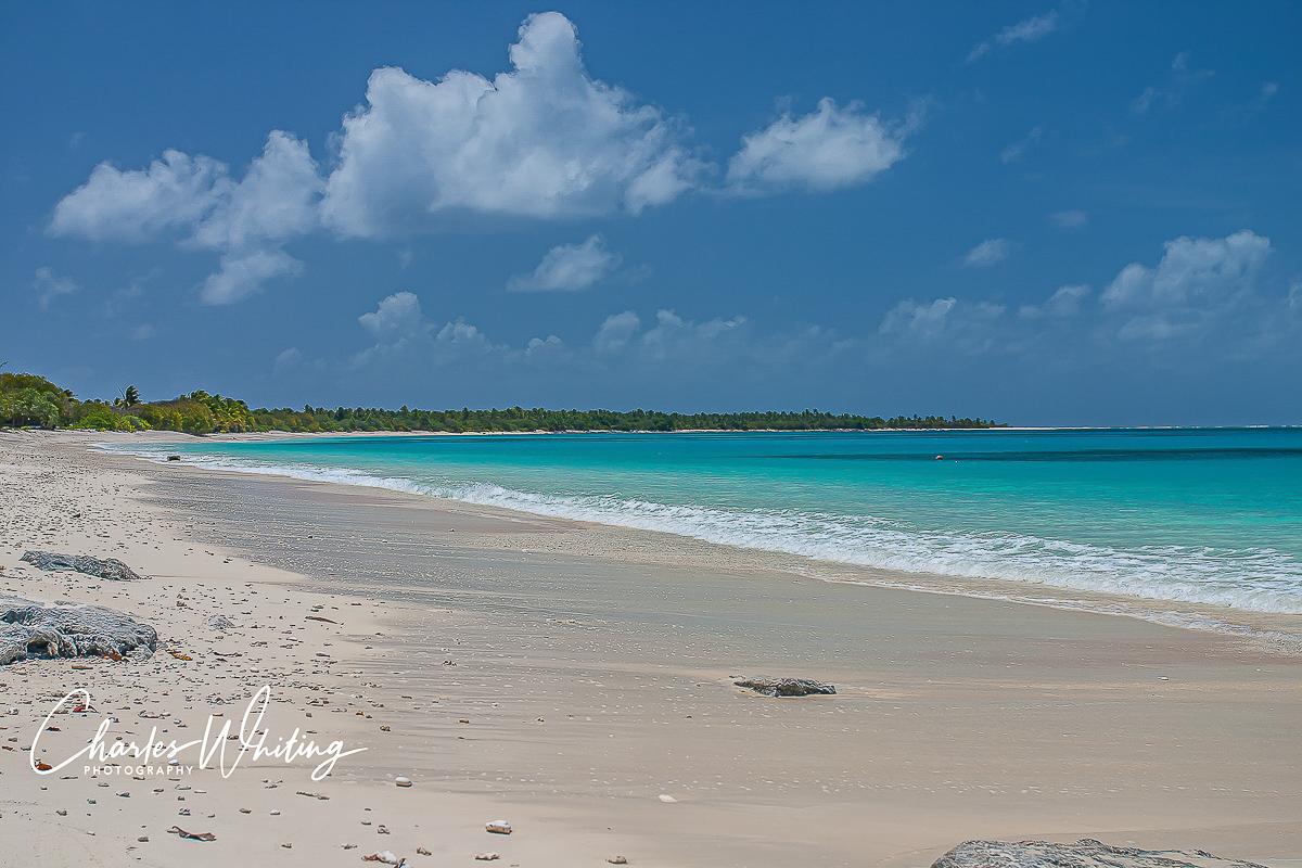 Bikini Atoll, Bikini Atoll Beach, crescent beach, white sand, shells, azure water, photo