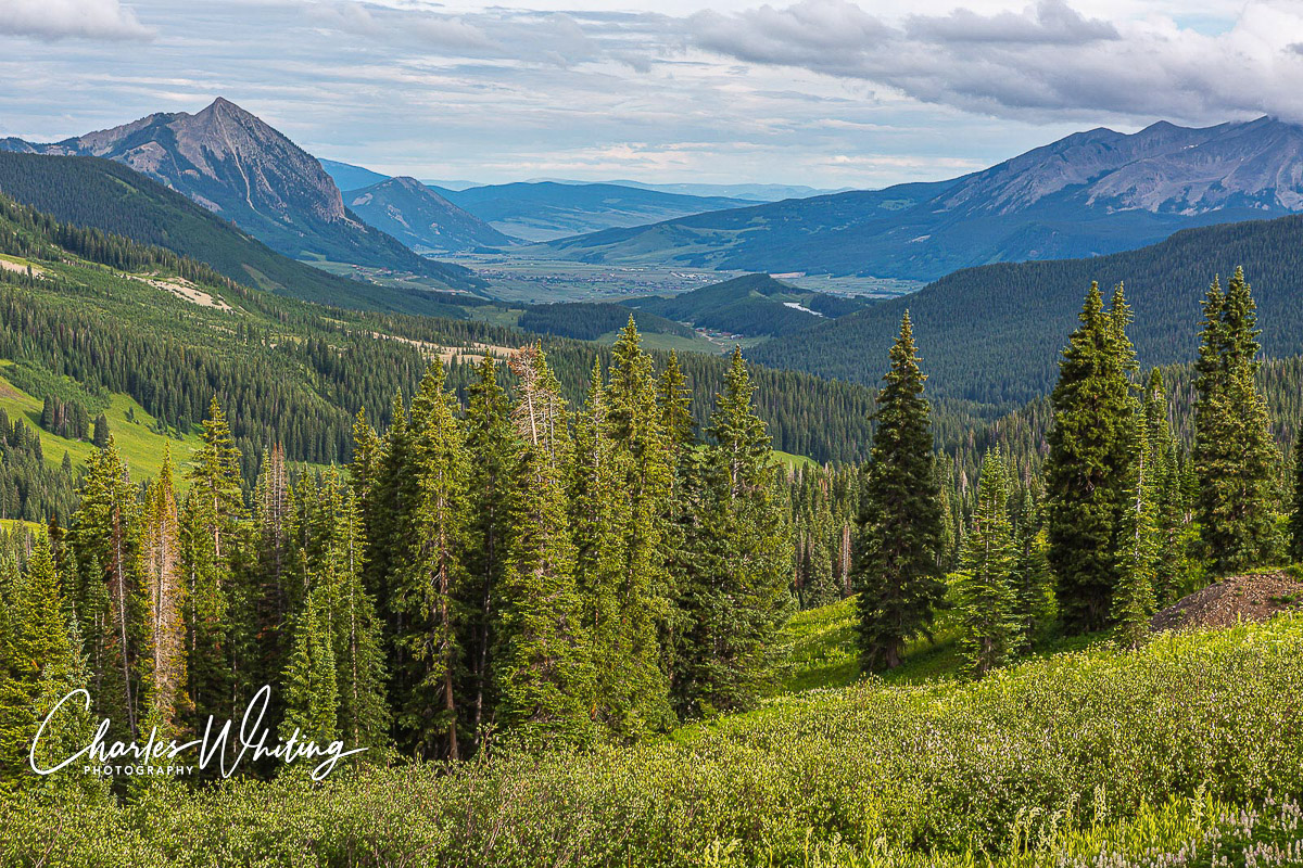 A view of the Crested Butte valley from an old mining camp