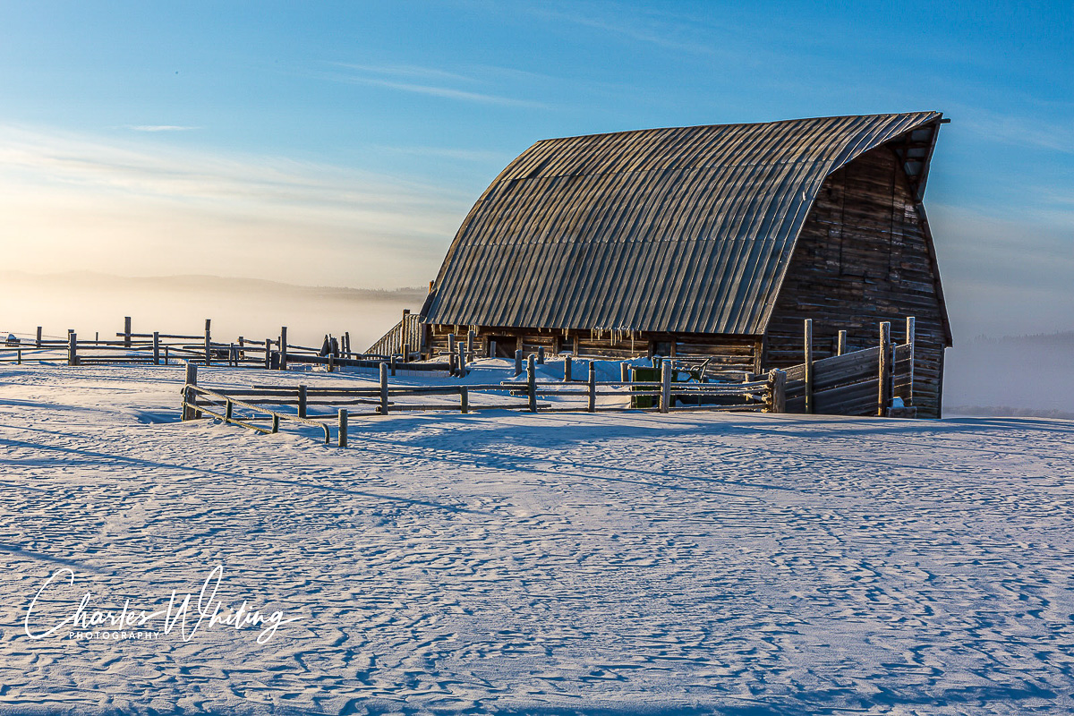 Barn, Frost, Fog, Snow, Steamboat Springs, Colorado, Fletcher Brothers Ranch, photo