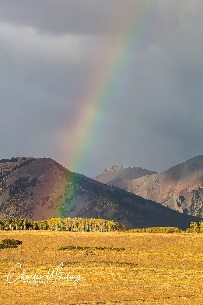 Rainbow, Wilson Mesa, Colorado, evening, photo