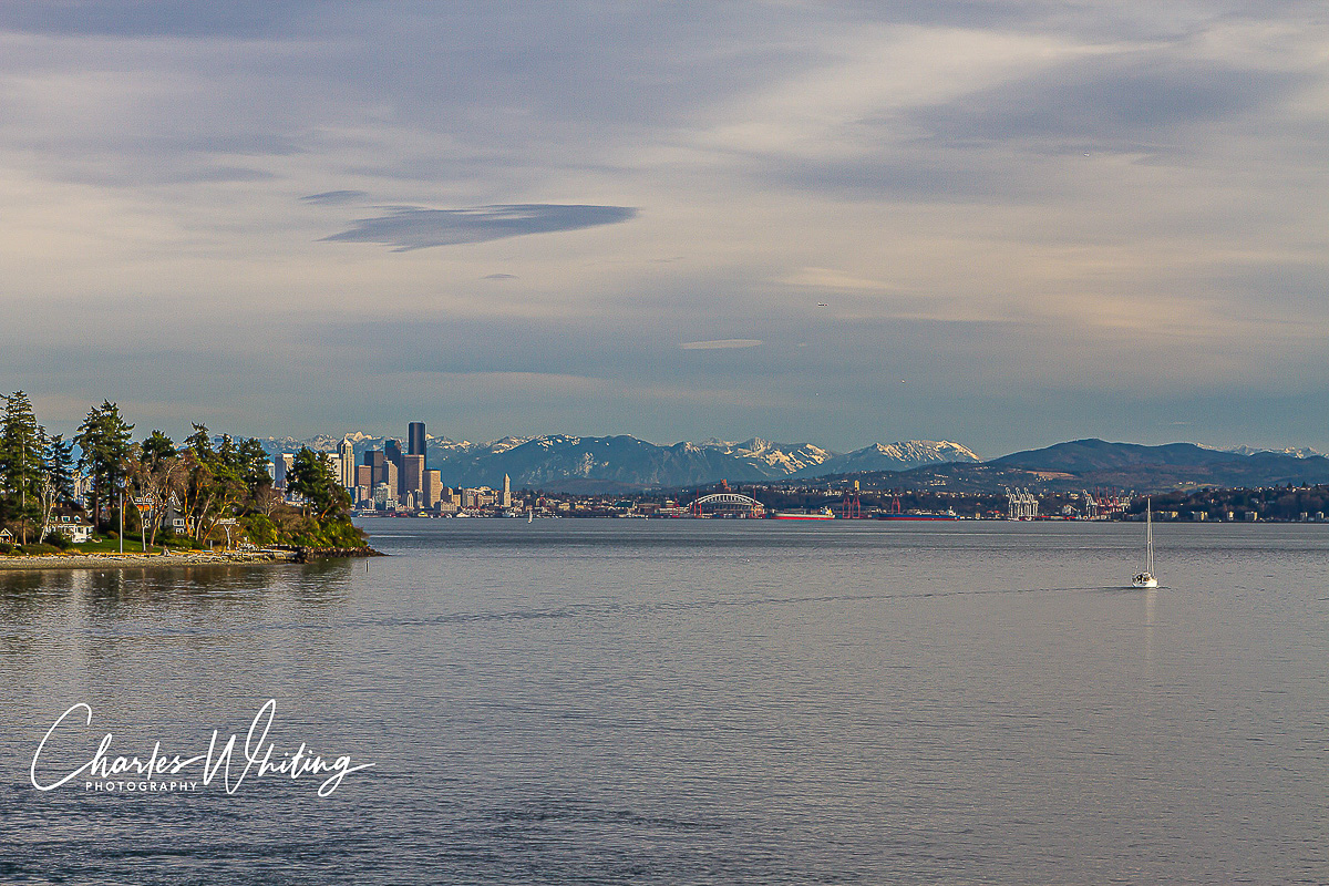 Seattle, Washington, Bainbridge Island, skyline, harbor, photo