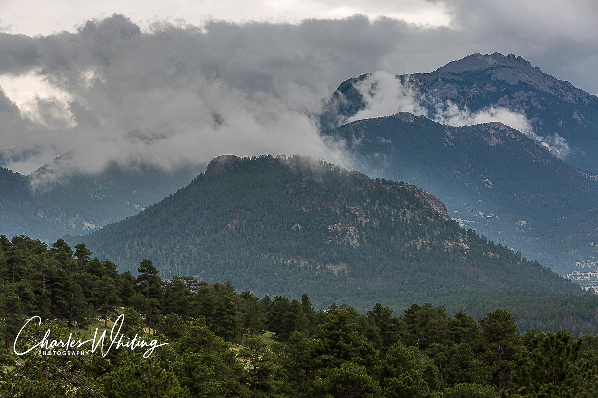 Storm, Valley, Rocky Mountain National Park, RNMP, Colorado, photo