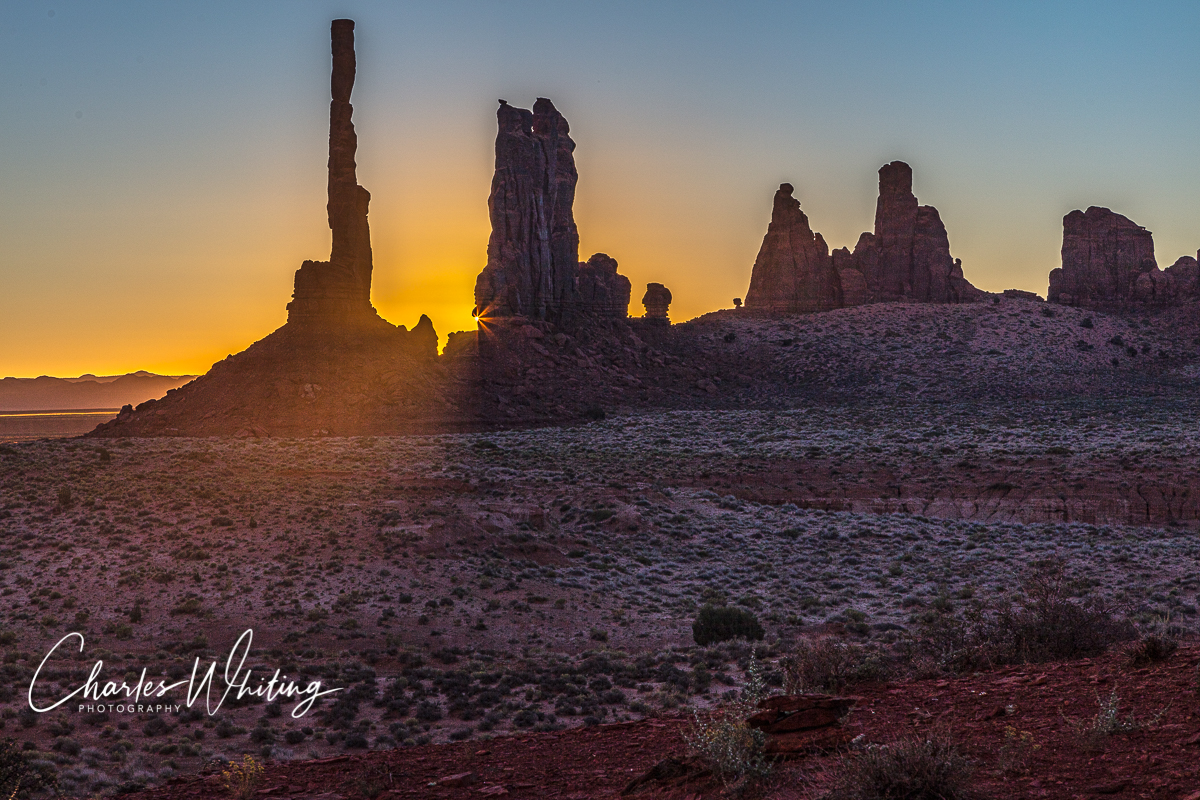 Sunrise Silhouette at the Totem Pole, Monument Valley, Arizona