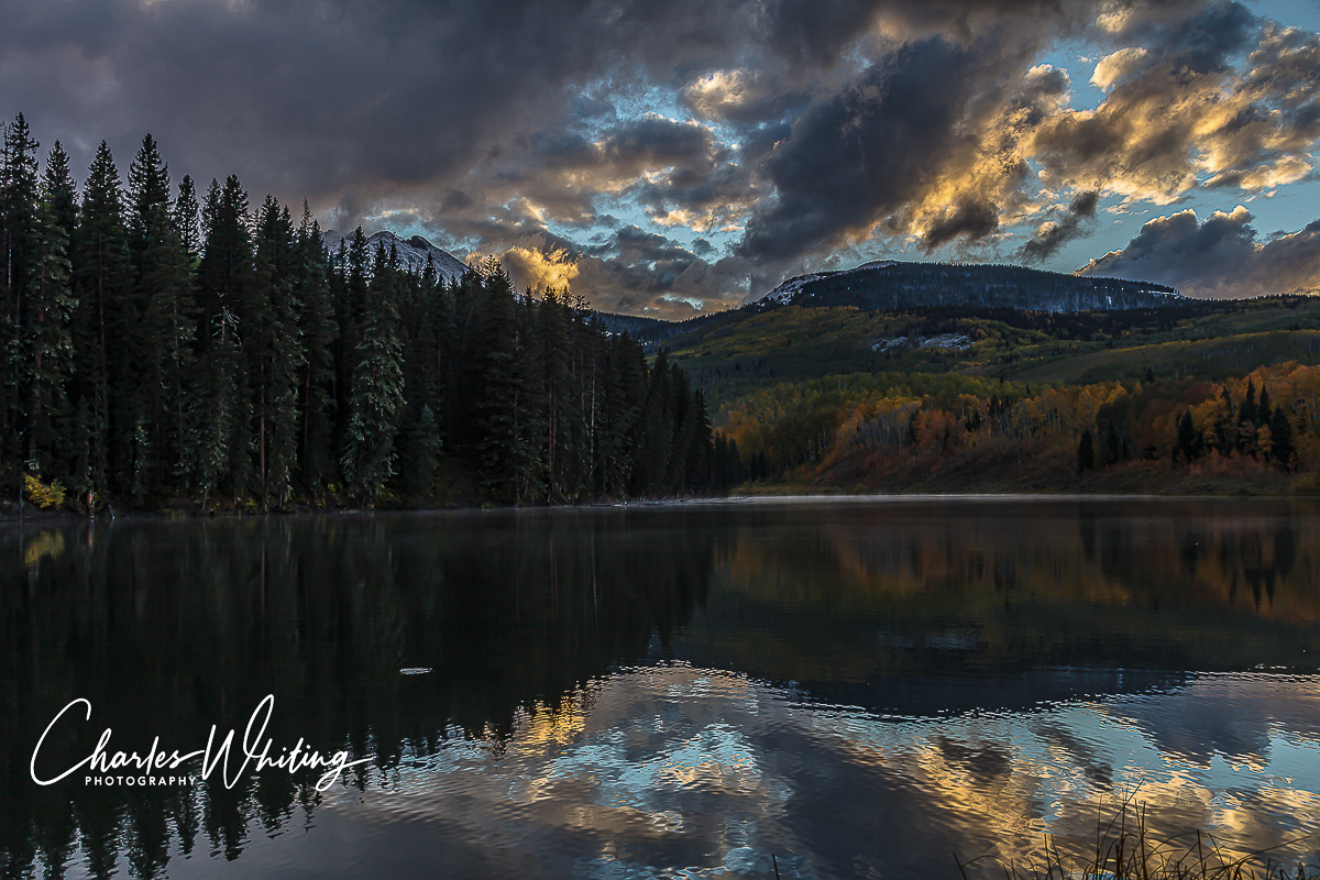 Sunset, Woods Lake, Placerville, Colorado, photo